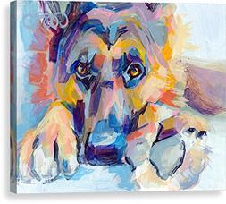 """Hagen"" by Kimberly Santini, Canvas Print Wall Art, 14"" x 11"