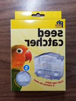 Seed Catcher Guard Mesh Bird Cage Cover Shell Skirt traps ca