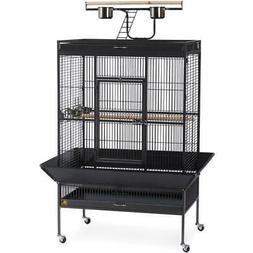Select Wrought Iron Large Parrots Bird Cage with Rolling Whe