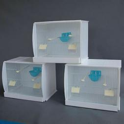 Set of 3 Stackable Canary Finch Breeding Bird Cage with Nest