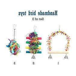 Pet Magasin Set of Three Colorful Bird Toys