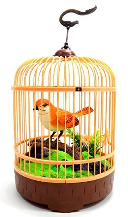 PowerTRC® Singing & Chirping Bird in Cage - Realistic Sound