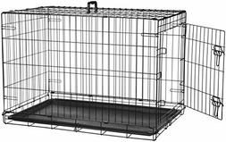 AmazonBasics Single Door & Double Folding Metal Dog Crate
