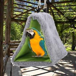 Sleep Bird Hut Toy Triangle Nest Pet Hammock Hang Cave Bed P