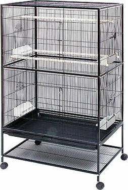 Small Bird Wrought Iron Flight Cage - 31x20x52 In