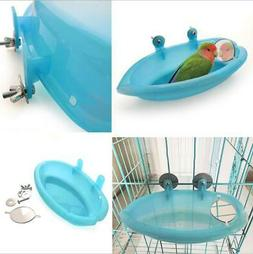 Small Parrot Bird Bathtub Pet Cage Accessories Bird Mirror B