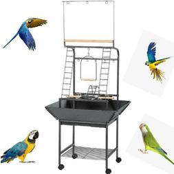 Prevue Pet Products Small Parrot Playstand, Black Hammertone