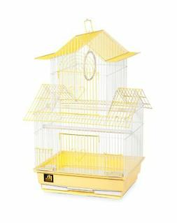 Prevue Hendryx SP1720-1 Shanghai Parakeet Cage, Yellow and W