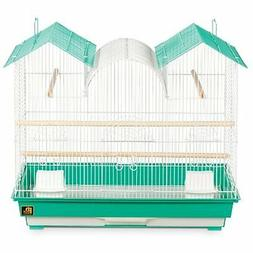 Prevue Hendryx SP1804TR-2 Triple Roof Bird Cage, Teal and Wh