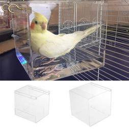 Spacious Acrylic Bath House Bird Cage Bird Bath for Cockatie