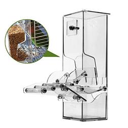Qukueoy No Split Bird Seed Feeder for Cage,Parrot Automatic