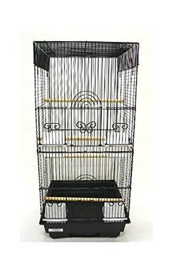 YML 6624BLK Tall Square 4 Perch Bird Cage in Black
