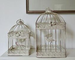 square METAL Bird Cages set of 2  INDOOR OUTDOOR weddings ga