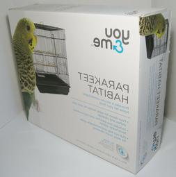 "You&Me Square Top Parakeet Cage, 16.5"" L X 11.8"" W X 22"" H"