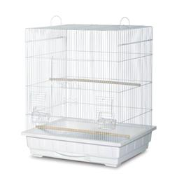 Prevue Hendryx Square Roof Parakeet Cage With Door Within A