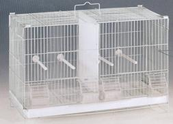 Stack and Lock Double Breeder Cage White
