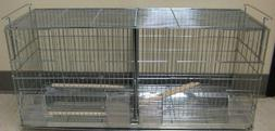 Stack and Lock Double Breeder Cage Bird Breeding Cage With R