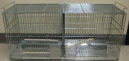 NEW Stackable Bird Finch Canary Breeder Breeding Cage With D