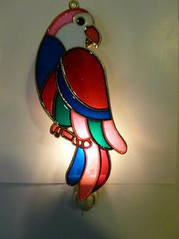 """Stain Glass Style - """"PARROT""""    NIGHT LIGHT"""