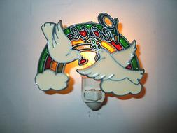 """Stain Glass Style - """"PEACE DOVES""""   NIGHT LIGHT"""