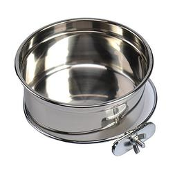 Stainless Steel Food Water Bowl For Pet Bird Crates Cages Co