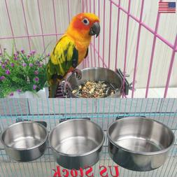 Stainless Steel Hanging Food Water Bowl For Cages Coop Dog P