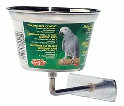 Living World Stainless Steel Parrot Cup, 16-Ounce