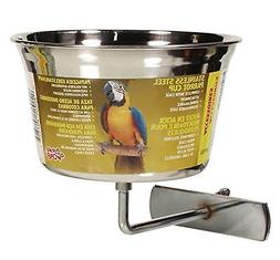 Living World Stainless Steel Parrot Cup, 32-Ounce