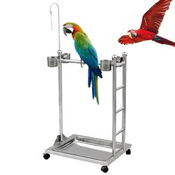 Stainless Steel Parrot Stand Bird Parrot Playstand Play GYM
