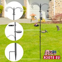 Station Hanging Bird Feeder pole Mental Stand Feeders Wild S