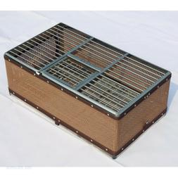 Steel textile Pigeon Training/Transport Basket folding/Colla