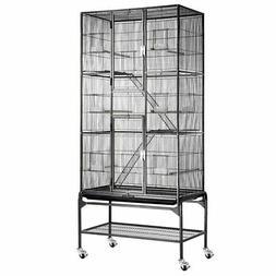 "69"" Large Storey Bird Parrot Cage Ladder Aviary Flight w/ 4"