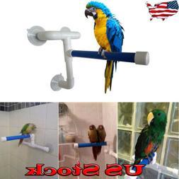 Suction Cup Plastic Parrot Shower Stand Rack Platform Bird S
