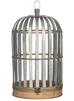Sullivans N2014 Birdcage Style Medal and Wood Candle Lantern