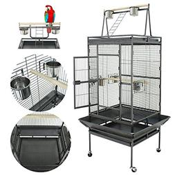 "Super Deal 53""/61""/68"" Large Bird Cage Play Top Parrot Chinc"