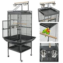 "Nova Microdermabrasion 61"" Large Bird Cage Play Top Parrot C"