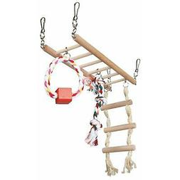 Trixie Suspension Bridge Cage Hanging Toy with Rope Ladder f