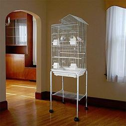 Large 20-Inches Open Play Top Parrot Bird Cage With Stand Wh