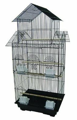 YML 18-Inch by 14-Inch Tall Pagoda Top Bird Cage, Black