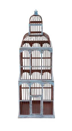 Benzara The Tall Wood Birdcage