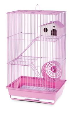 Three Story Hamster and Gerbil Cage - Lilac