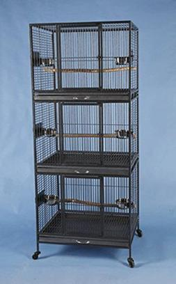 Three Tier Stackable Multiple Bird Parrot Animal Pet Cage -