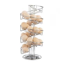 Toplife Spiral Design Stainless Steel Egg Skelter Dispenser