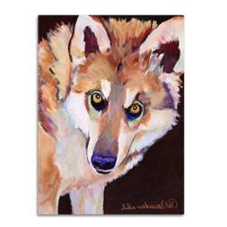 Trademark Fine Art Pat Saunders 'Night Eyes' Canvas Art 14x1