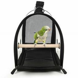 Transparent Bird Travel Cage Breathable Lightweight PVC Bird
