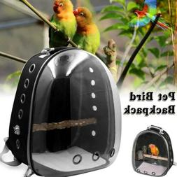 Transparent Pet Backpack Parrot Carrier Cage Bird Travel Bag