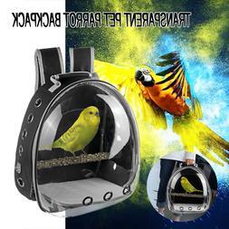 Travel Bag Transparent Pet Backpack Parrot Carrier Cage Bird