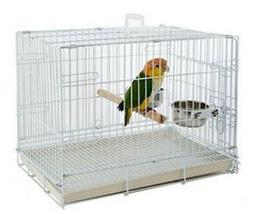 "Collapsable Bird, Dog and Cat Carrier Travel Cage 19""x12""x16"