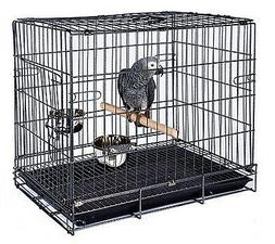 Travel Foldable Parrot Parakeet Bird Carrier Cage Stand Perc