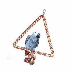 KinTor Medium Triangle Rope Swing Bird TOY Parrot Cage Toys